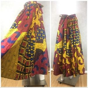 Dresses & Skirts - African wax A-line skirt elastic waist Abidjan M L